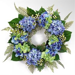 Sofia Hydrangea Floral Wreath Multi Cool