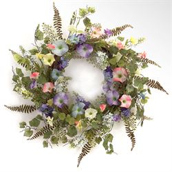 Morning Glory Wreath Multi Pastel