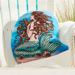 Mermaid Contour Decorative Pillow Multi Cool