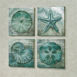 Sea Gallery Coastal Wall Art Blue Set of Four