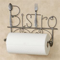 Bistro Wall Paper Towel Holder Antique Silver