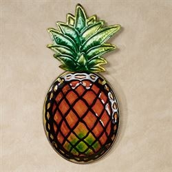 Pineapple Splendor Wall Plaque Multi Warm