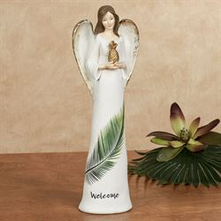 Welcome Angel Table Accent Off White