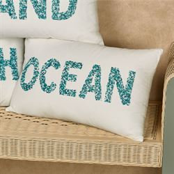 Beach Beaded Pillow Multi Cool 20 x 12