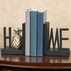 Home Bookends Black Pair