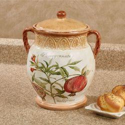 Tuscan Fruit Biscuit Jar Multi Earth