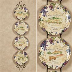 Vino Grapes Dessert Plates Cream Set of Four
