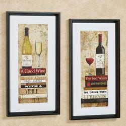 Good Wine Framed Print Multi Earth