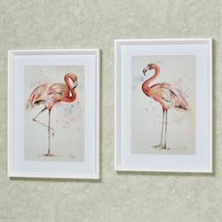 Flamingo Facing Right Framed Print Coral