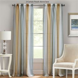 Sumner Semi Sheer Curtain Panel Silver Gold