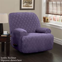 Helix Stretch Slipcover Grape Wing Chair