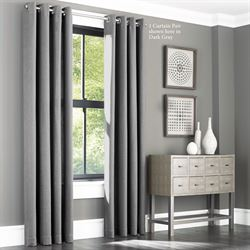 Finn Wide Grommet Curtain Pair
