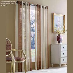 Lincoln Semi Sheer Grommet Curtain Panel