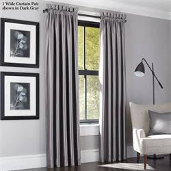 Lustrous Wide Curtain Pair