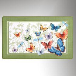 Butterfly Caper Comfort Mat Peridot 30 x 18