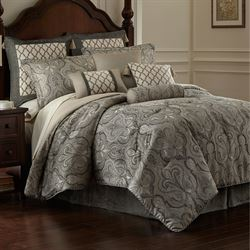 Portici Comforter Set Gray