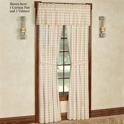 Annie Tailored Curtain Pair Honey 80 x 84