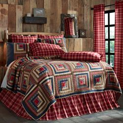 Braxton Cabin Quilt Dark Red