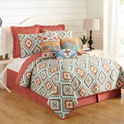 Southwest Diamonds Quilt Multi Bright
