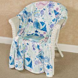 Coastal Pastel Plush Throw Blanket Multi Pastel 50 x 70
