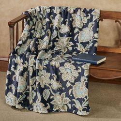 Lynn Plush Throw Blanket Cobalt 50 x 70