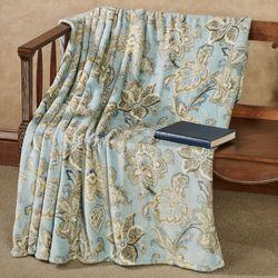 Lynn Plush Throw Blanket Light Blue 50 x 70