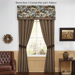 Kodiak Tailored Curtain Pair Multi Warm 82 x 84