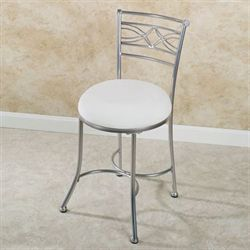 Durand Vanity Chair Satin Nickel