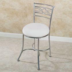 Durand Vanity Chair Satin Nickel