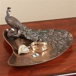 Edeline Peacock Tray Bronze