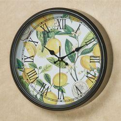 Lemon Basil Wall Clock Yellow