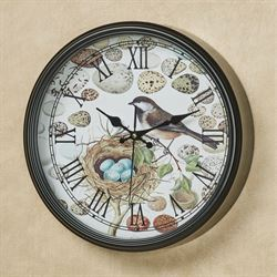 Nest and Egg Wall Clock Multi Earth