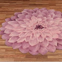 Adilyn Round Rug Purple