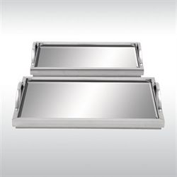 Costanza Trays Set Silver Set of Two