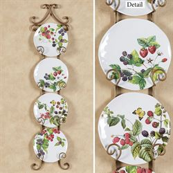 Berry Patch Accent Plates Multi Bright Set of Four