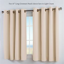 Thermal Elegance Short Grommet Curtain Panel