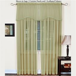 Mystic Shimmer Tailored Curtain Panel Gold