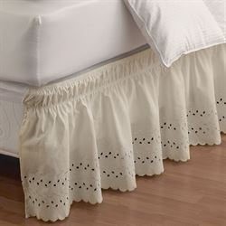 Easy Fit Ruffled Eyelet Bedskirt
