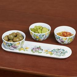 Tuscan Grove Condiment Set Multi Warm Set of Four