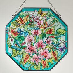 Paradise Found Window Art Panel Multi Jewel
