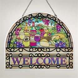 Great Vintages Welcome Window Art Panel Multi Bright