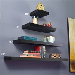 Manhattan Black Floating Shelf