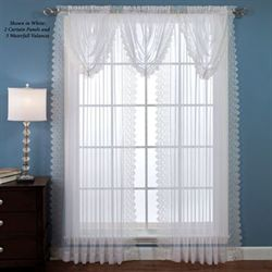 Deville Semi Sheer Lace Curtain Panel