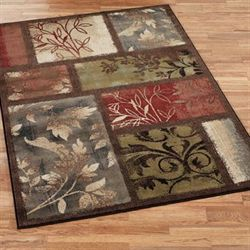 Leaf Landscapes Rectangle Rug Multi Warm