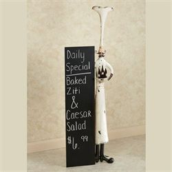 Daily Specials Chef Menu Chalkboard Black