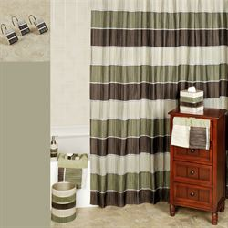 Modern Line Sage Shower Curtain