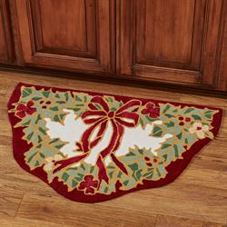 Happy Holly Slice Accent Rug Red 33 x 21