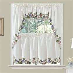 Cormons Vineyard Grapes Kitchen Tier And Valance Window