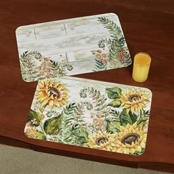 Sunflowers Placemats Yellow Set of Four