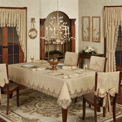 Florentina Oblong Tablecloth Antique Gold